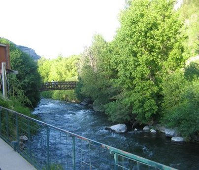 Provo River by Bridal Veil Falls UT
